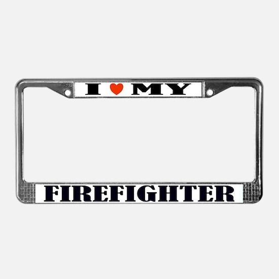 Firefight Love License Plate Frame