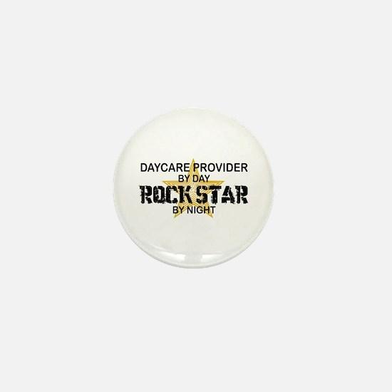 Daycare Provider Rock Star Mini Button
