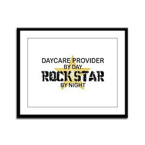 Daycare Provider Rock Star Framed Panel Print