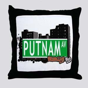 PUTNAM AV, BROOKLYN, NYC Throw Pillow