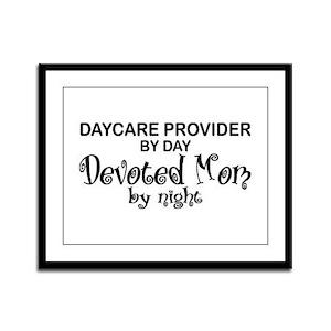 Devoted Mom Daycare Provider Framed Panel Print