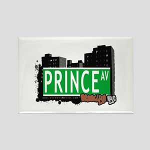 PRINCE AV, BROOKLYN, NYC Rectangle Magnet