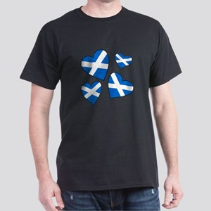 Four Scottish Hearts Dark T-Shirt