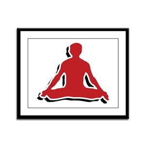 Yoga Lotus Pose Framed Panel Print
