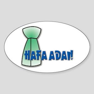 Hafa Adai! Oval Sticker