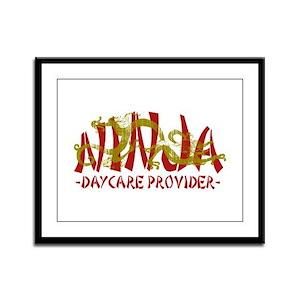 Dragon Ninja Daycare Framed Panel Print