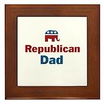 Republican Dad Framed Tile