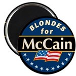 Blondes for McCain! Magnet