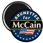 Brunettes for McCain! Magnet