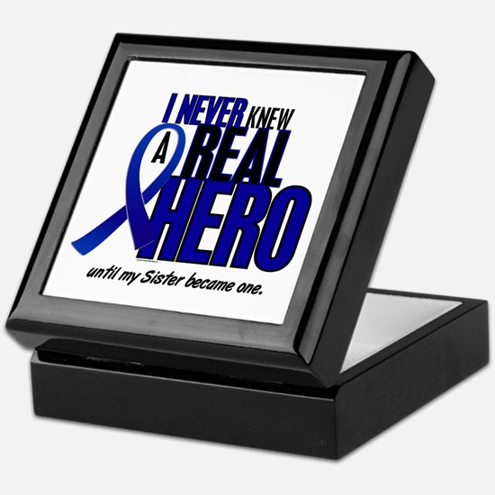 Never Knew A Hero 2 Blue (Sister) Keepsake Box