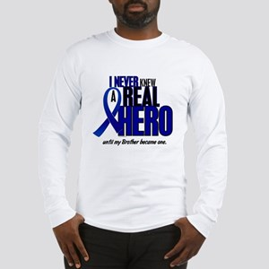 Never Knew A Hero 2 Blue (Brother) Long Sleeve T-S