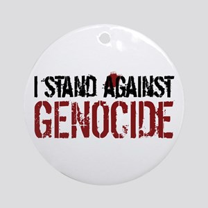 I Stand Against Genocide Ornament (Round)