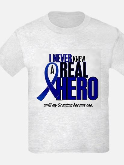 Never Knew A Hero 2 Blue (Grandma) T-Shirt
