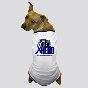 Never Knew A Hero 2 Blue (Grandma) Dog T-Shirt
