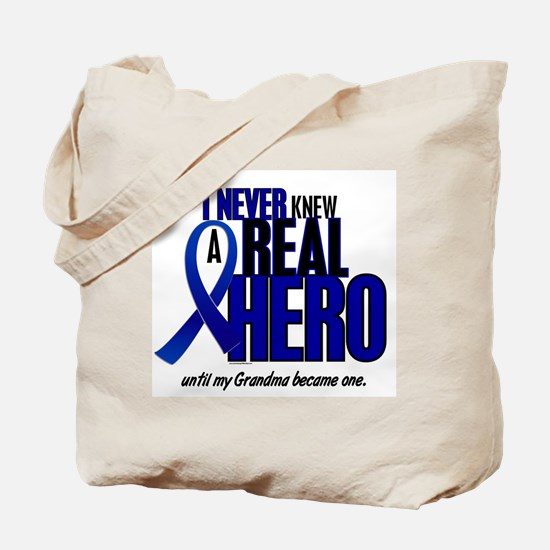 Never Knew A Hero 2 Blue (Grandma) Tote Bag