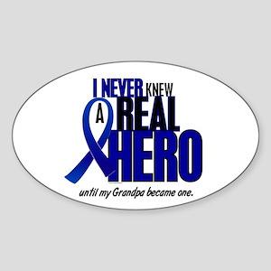Never Knew A Hero 2 Blue (Grandpa) Oval Sticker