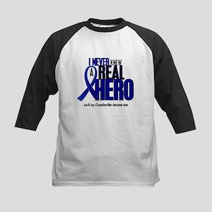 Never Knew A Hero 2 Blue (Grandmother) Kids Baseba