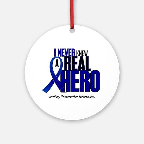Never Knew A Hero 2 Blue (Grandmother) Ornament (R