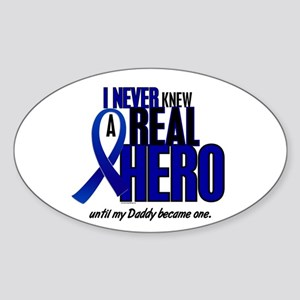 Never Knew A Hero 2 Blue (Daddy) Oval Sticker
