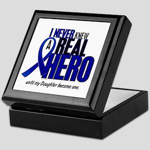 Never Knew A Hero 2 Blue (Daughter) Keepsake Box
