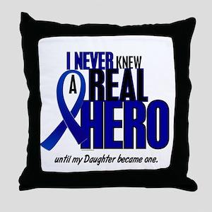 Never Knew A Hero 2 Blue (Daughter) Throw Pillow