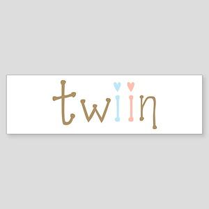 Twin Boy and Girl Twiin Bumper Sticker