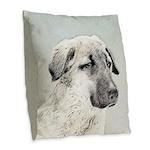 Anatolian Shepherd Burlap Throw Pillow