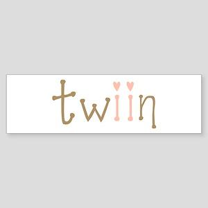 Twin Girls Twiin Bumper Sticker