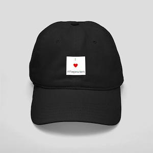 I Love Affenpinschers Black Cap