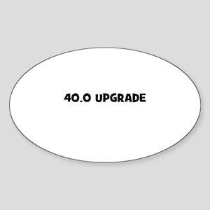 40.0 Upgrade Oval Sticker