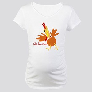 Chicken Mom Maternity T-Shirt