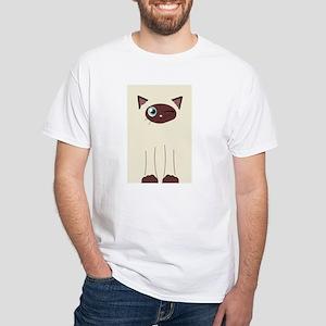 Cute Winking Cat Cartoo Women's Cap Sleeve T-Shirt