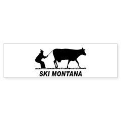 Ski Montana Bumper Bumper Sticker
