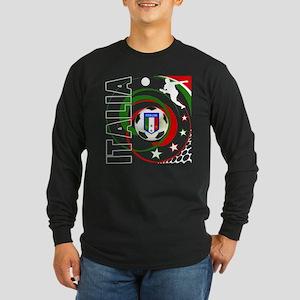 Italia Global Design Long Sleeve Dark T-Shirt