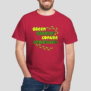 Afficionado Green Cheeked Conure Dark T-Shirt