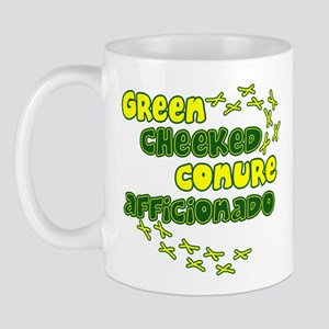 Afficionado Green Cheeked Conure Mug
