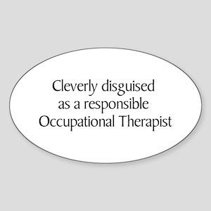 Occupational Therapist Oval Sticker (10 pk)