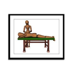 Massage Framed Panel Print