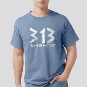 313 Made In Detroit Michigan Mototown T-Shirt