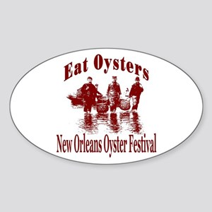 New Orleans Oyster Festival Oval Sticker