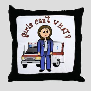 Light EMT-Paramedic Throw Pillow