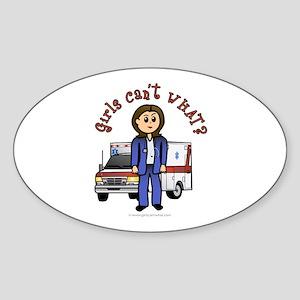 Light EMT-Paramedic Oval Sticker