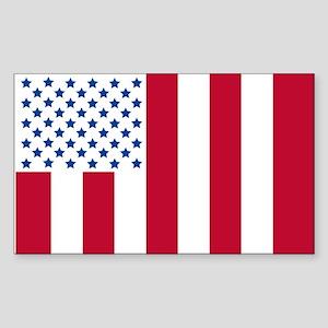 "US Civilian ""Peace"" Flag Sticker (Rectangle)"