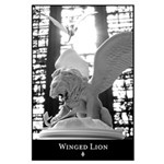 Winged Lion and Dragons Large Wall Poster