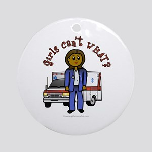 Dark EMT-Paramedic Ornament (Round)