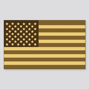 US Flag (Desert Sand) Rectangle Sticker