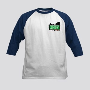 CLIFTON AVENUE,BROOKLYN, NYC Kids Baseball Jersey