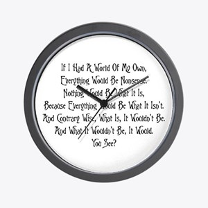 A World Of My Own Wall Clock
