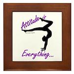 Gymnastics Framed Tile - Attitude