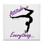Gymnastics Tile Coaster - Attitude